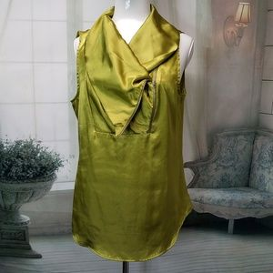 Rose & olive blouse sleeveless large